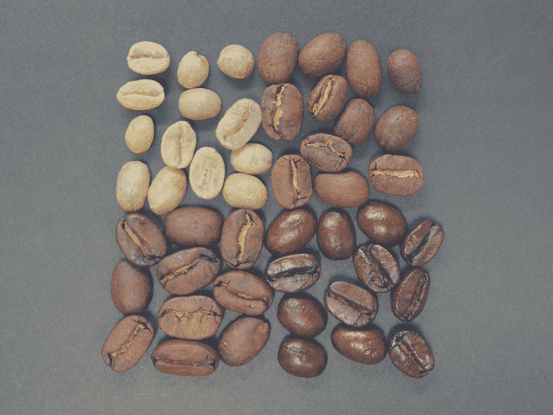 4 different coffee roast colours