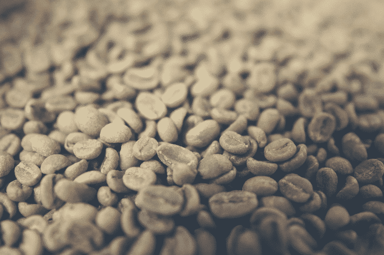 close-up photo of green coffee beans