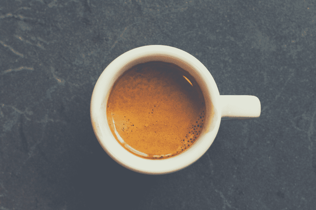 a shot of espresso in a white cup, philips 3200