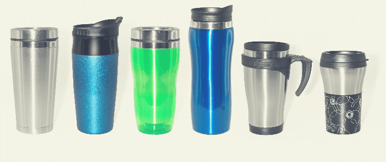 Stainless steel thermos bottles and mugs set, coffee thermos