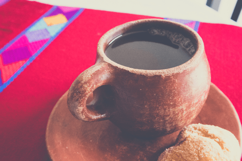 Cafe de Olla (Mexican Coffee) on Table in Chiapas, Mexico, how to brew coffee without a coffee maker
