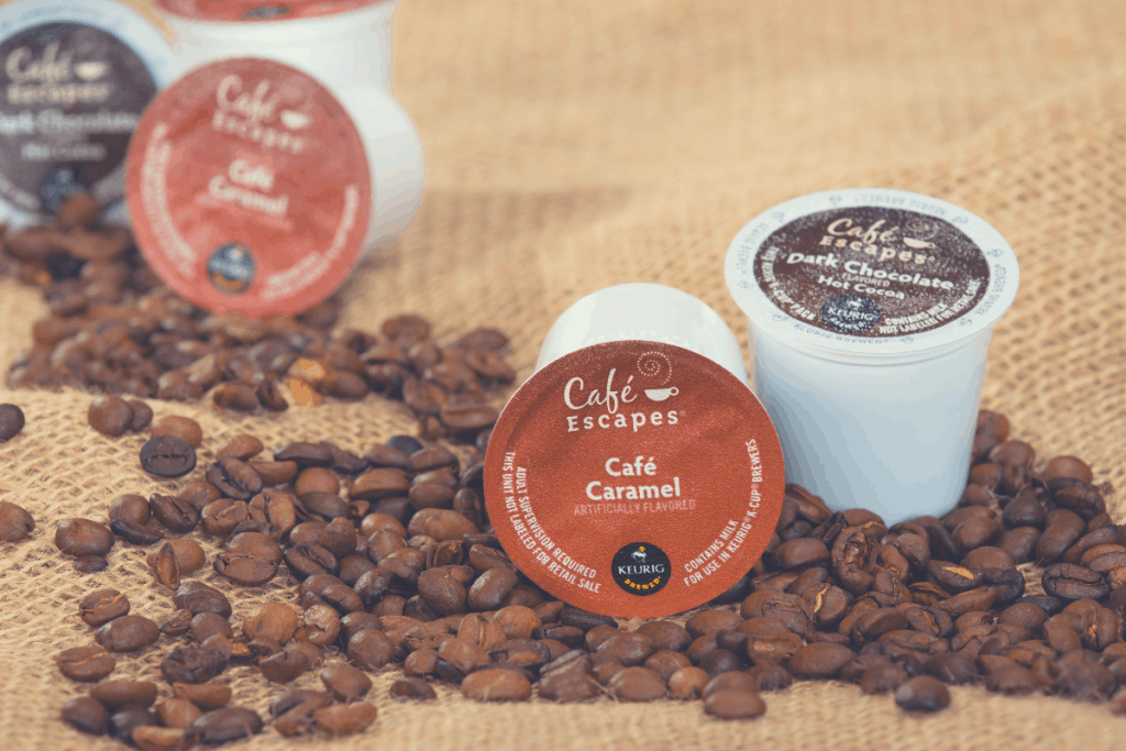 Keurig Green Mountain Coffee single-serve K-Cups and coffee beans on July 30, 2014 in Dallas. Cafe Escapes is a collection of premium hot cocoas and dairy-based beverages available for Keurig brewer, why is keurig coffee so weak