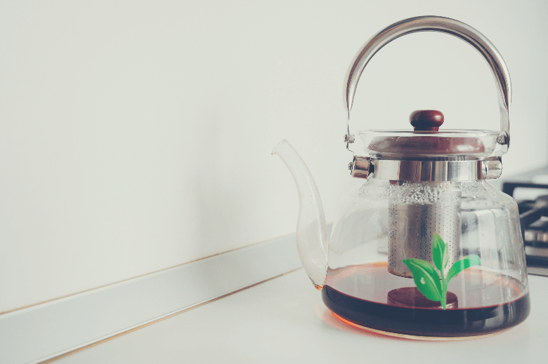 clear teapot with a tea strainer, can you use a tea infuser for coffee