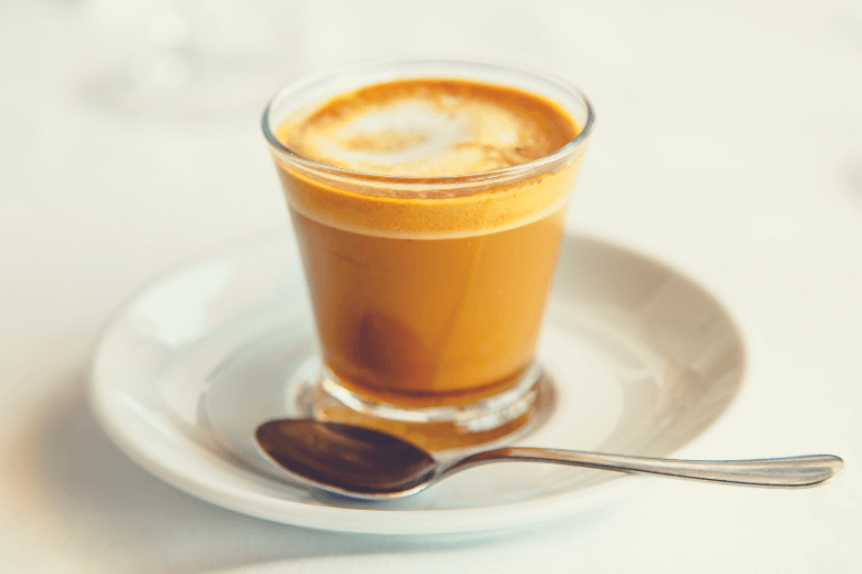 Cortado - Spanish coffee with milk in the Cup, what is a cortado