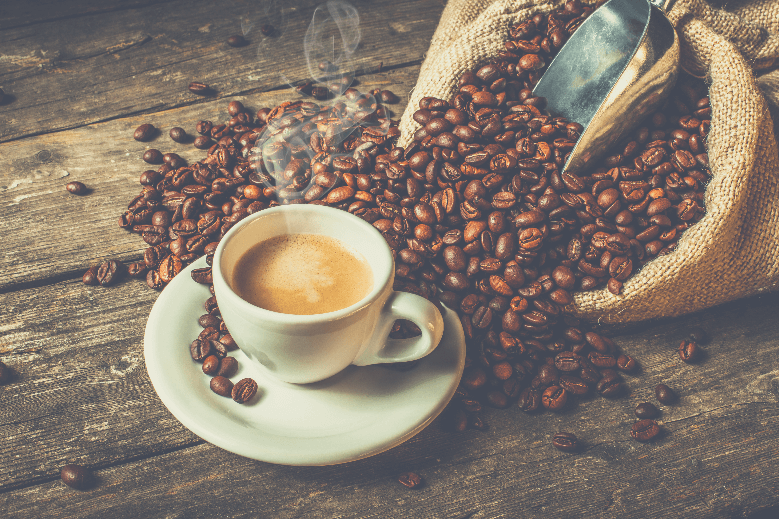 coffee background, can you use espresso beans for coffee